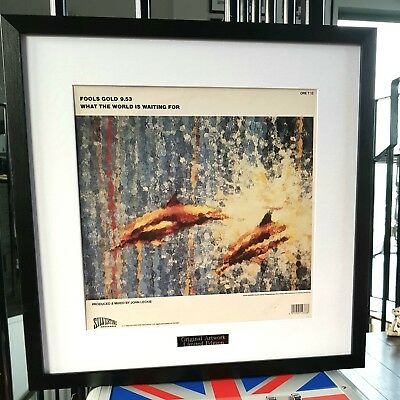 Stone Roses-Luxury Framed Original Album Cover-Fools Gold-Ian Brown-FREE POST