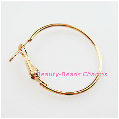 10Pcs Jewelry Lot Circle Basketball Wives Hoops Earrings 30mm Champagne Gold