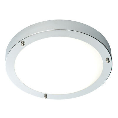 SAXBY PORTICO Chrome & Frosted Glass IP44 Dimmable Bathroom Ceiling Light 59850