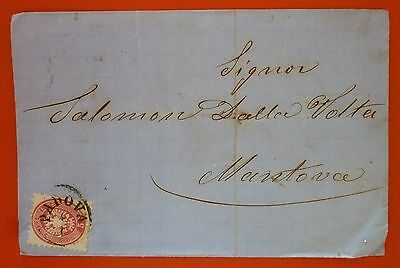 Italy Lombardei&Venetien 1866 Letter from Padova to Mantova - 5 s. IV Issue