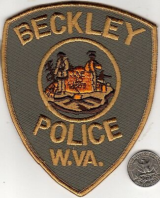 POLICE PATCH City Police Department BECKLEY WEST VIRGINIA Cloth Badge Sheild