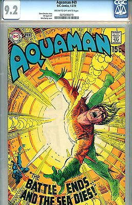 Aquaman #49 CGC GRADED 9.2 - fourth highest graded - Aparo art - Cardy cover