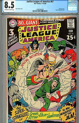 Justice League of America #67 CGC GRADED 8.5 - Giant - Special Issue - Adams c