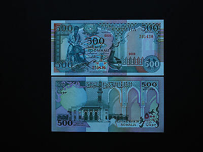 SOMALIA BANKNOTES 500 SHILLINGS  p 36  -  DATE 1989  GREAT IMAGES    MINT  UNC