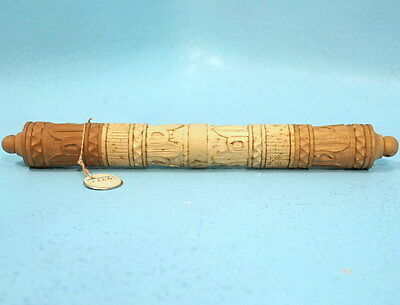 Antique Swiss Black Forest Wood Carving Knit Needle Crochet Hook Holder Stanhope