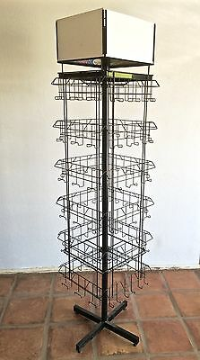Greeting Card Display Rack Stand Spinner 72pkt w/4Top add pnls NIB Mfg by FELBRO