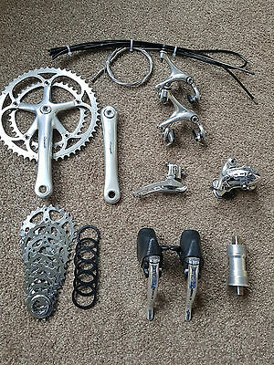 Groupset, Beautiful Campagnolo Chorus 8 Speed Record Titanium Era / Vintage