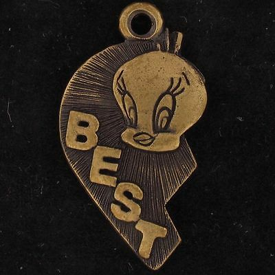 CHARM Tweety Bird WARNER BROS LOONEY TUNES BEST FRIEND HALF HEART BFF WB 5039