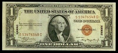 1935 A $1 Silver Certificate Hawaii Emergency Issued Note -Fr# 2300 Xf