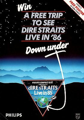 Dire Straits 1985 Brothers In Arms Tour Philips Poster Program / Ex 2 Nmt