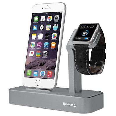 iVAPO  [2-in-1 Charging Stand] for iPhones 6 - 7, Plus or Standard + Apple Watch