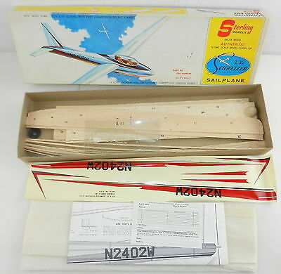 Sterling Models #8157 Authentic 2-32 Schweizer Sailplane GLIDER Kit A27 Unbuilt