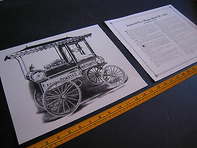 "Antique Cretors Popcorn Wagon 2 Print Set-Improved No. 1 Wagon -Model ""B""- 1907"