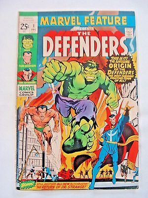 Marvel Feature #1 (Dec 1971) First Appearance and Origin of The Defenders