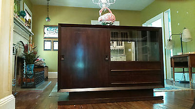 Vintage Deco / Mid Century Solid Wood Bar