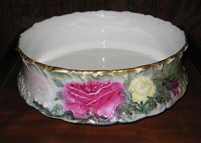 Antique T&v Limoges Centerpiece Bowl Artist Signed C 1897-1907 Gorgeous !!
