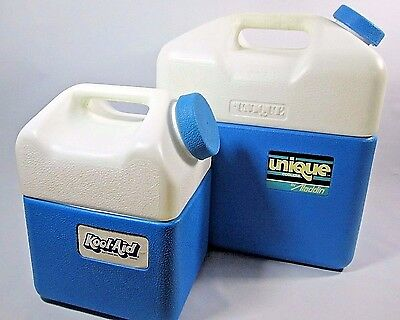 VTG 80s KOOL AID 2 Piece Jug Cooler Lunchbox SET OF TWO by Unique Aladdin