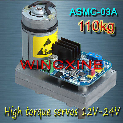 Free shipping, ASMC -03A High power high torque servo the 24V 110kg.cm