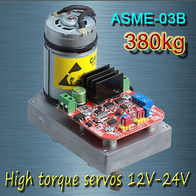 ASME-03B High-power high-torque servo the 12V~24V 380kg .cm 0.5s/60 Degree