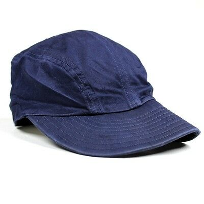Original Us Navy / Usn Blue Cotton Sateen B1 B-1 Summer Flying Cap Hat Crew