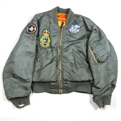 Usaf Type L2B Flight Jacket Usaf Europe Tactical Fighter Squadron 32 Wolfhound