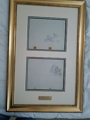 Two Original Walt Disney Production Drawings from The Dognapper (1934)