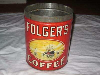 Vintage Coffee Can Folgers Golden Gate Coffee Large 5 LB