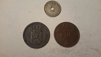 3 Norway Coins- 1860 1 G ,1936 2 Ore,  1926 Norge