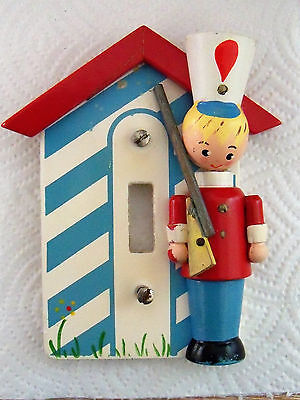 vintage IRMI painted wood Toy Soldier Nursery kid's room Light Switch Plate
