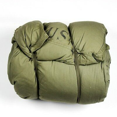 M-1949 M49 Arctic Sleeping Bag W/ M-1945 M45 Water Repellent Cover Case Liner