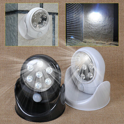 7 LED Infrared Wireless Motion Activated Sensor Security Light Lamp In/Out Door