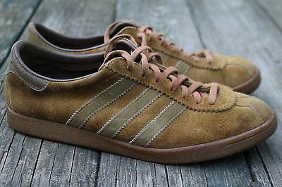Vintage Mens Adidas Tobacco Made in France 1970s Brown 8 Shoes Sneakers