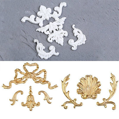 3D Vintage Scoll Silicone Mould Cake Home Decor Baroque Sugarcraft Baking Tools