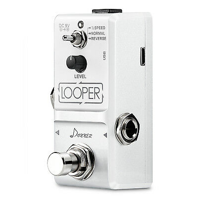 Donner Tiny Looper Effect Pedals Unlimited Overdubs 10 Minutes of Looping
