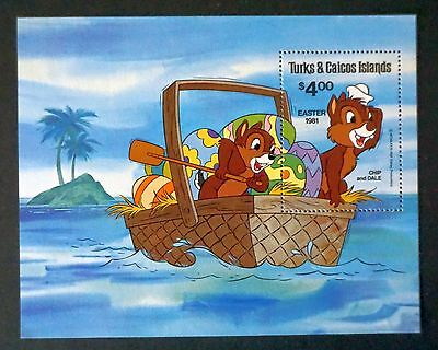 DISNEY stamp / Souvenir  CHIP and DALE stamp /souvenir sheet Turks & Caicos  MNH