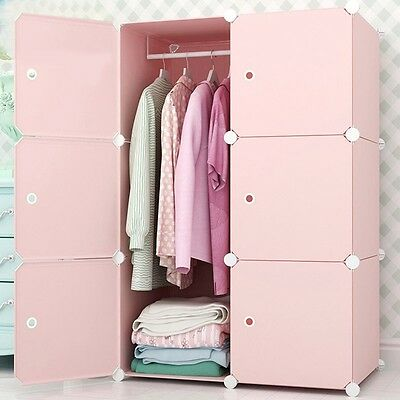 Newly Wardrobe Household Clothes Storage Closet DIY Cabinet Waterproof Organizer