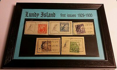 LUNDY ISLAND ~ First Issues Set. All postmarked before first day of issue. RARE!