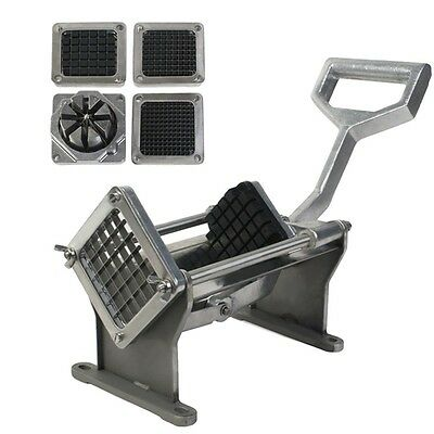 New Potato French Fry Fruit Vegetable Cutter Slicer Quality W4 Blades Commercial