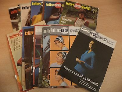 JOB LOT MAGAZINES KNITTING PATTERNS OLD VINTAGE 60S - 70s knitters circle news