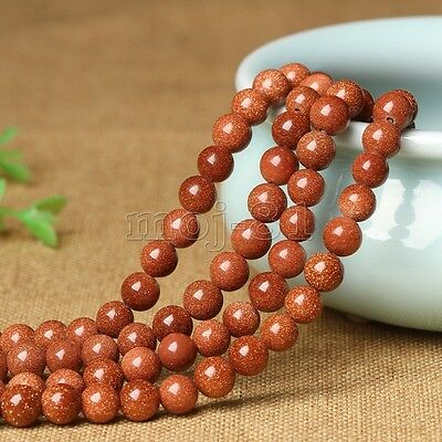 8mm Natural Smooth Gold Sandstone Gemstone Round Loose Beads 15'' Strand AAA