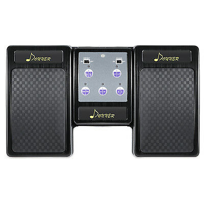 Top Donner Bluetooth Page Turner Pedal for Tablets Rechargeable Black Free Ship