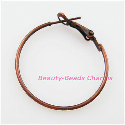 16Pcs Jewelry Lot Circle Basketball Wives Hoops Earrings 30mm Antiqued Copper