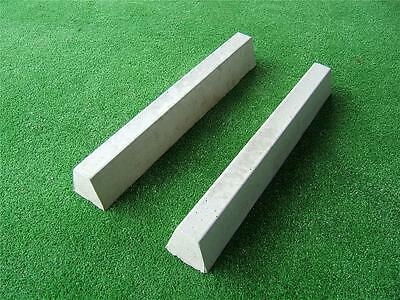 2 x Kerbing Paving Edging Moulds Molds Garden Cement