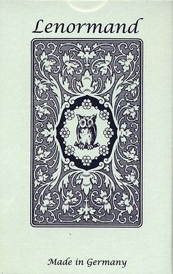 Mlle Lenormand Blue Owl (with symbols), English Edition, brand new!