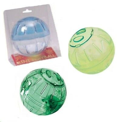 """Dwarf Hamster Mouse Travel Fitness Exercise Play Toy Ball Small 5"""" Dia 12.5cm"""