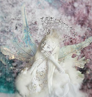ooak fairy frost pixi ice queen snow white polymer clay art doll prototype big