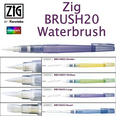 Kuretake Zig BrusH20 H2O Water Brush Pen Watercolour Gansai Tambi