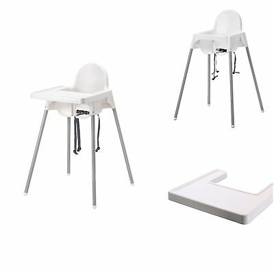 IKEA  HIGHCHAIR WITH SAFETY STRAPS & MATCHING TRAY IKEA ANTILOP fast dispatch