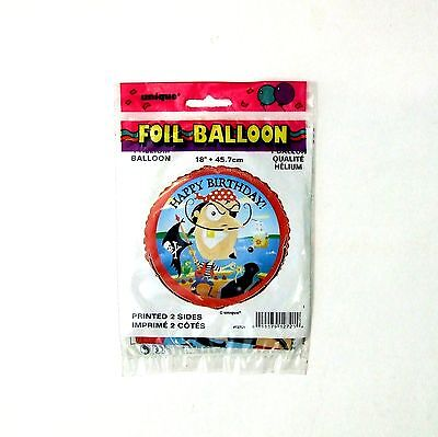 """Helium Pirate Balloon Qty 40 Children's Foil Party 18"""""""