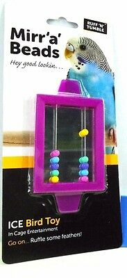 Ruff'n'Tumble Mirr'a'Beads Ice Bird Toy Mirror plus Beads Caged Bird Aviary Toy